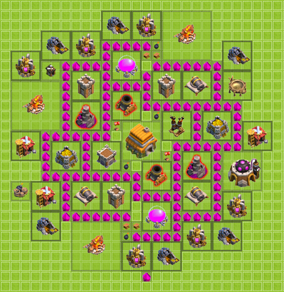 Town Hall Level 6 Clan War Bases